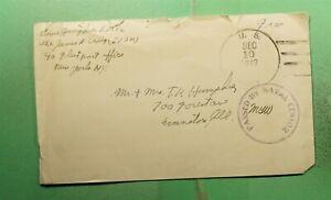 DR WHO 1943 USS JAMES E CRAIG NAVAL SHIP FREE FRANK TO USA WWII CENSORED g41364