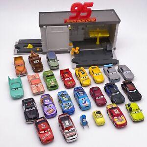 Disney Pixar Cars Diecast Lot of 24 Light/Sound 1:55 Rusteze Quick Change Garage