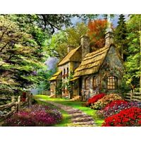 Spring Lodge DIY Paint By Numbers Kit Digital Oil Painting Art Office Home Decor