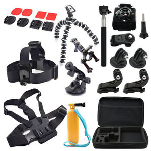 For Gopro Accessories Set Kits Mount SJCAM Sony Act Cam HDR AS200V AS100V Xiaomi