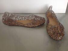 Melissa Clear Confetti Glitter Peep Toe Ballerina Flats Vivienne Westwood 39 8.5
