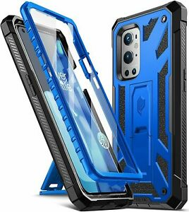 OnePlus 9 Pro 5G Cell Phone Case Poetic® Armor Kickstand Shockproof Cover Blue