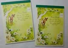 Vintage Forest Friends Seal and Send Letters 2 Pads 36 Sheets 48 Seals 4 Designs