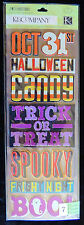 K&Company 7pc Chipboard Ashesive Halloween Stickers Trick Treat Spooky Boo! +++