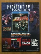 2012 Resident Evil: Damnation Bluray/DVD Promo Print Ad/Poster Official Art Rare