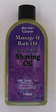 Aromatherapy Shaving  Oil 100ml with refreshing Peppermint, Lime and Tea Tree