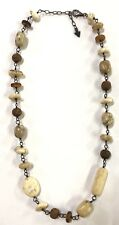 Beautiful Silpada Multi Stones Whites & Browns Necklace Great Condition