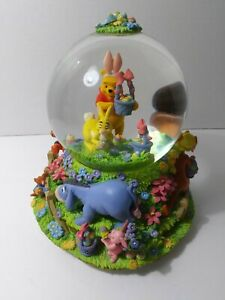 Easter Winnie The Pooh Musical Snowglobe