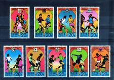 COREE 1978 lot de 9 timbres histoire de la coupe du monde foot