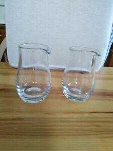 Scandinavian glass milk jugs perfect condition
