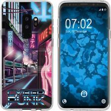 Case für Samsung Galaxy S9 Plus Silikon-Hülle Retro Wave Cyberpunk.01 M4 Case