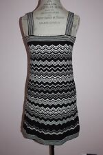 Womens Missoni For Target Strappy Black & White Zig Zag Dress Size Small