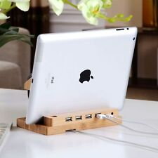 4 in 1 Wooden Desk Stand Holder Charge Dock Station 4 iWatch iPhone 7 7Plus iPad