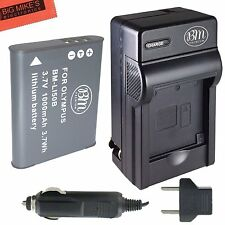 BM LI-50B Battery & Charger for Olympus SZ-30MR SZ-31MR iHS TG-610 TG-630 iHS
