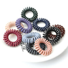 10pcs Telephone Wire Hair Ties Donut Ponytail girls Hairstyle Spiral Scrunchies
