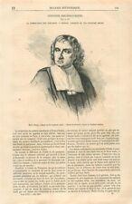 Maître Boulay Tailleur Corporation des Tailleurs du XVIIième Siècle GRAVURE 1867