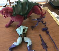 Panthor 1981 He-Man MOTU Mattel Masters of the Universe with Skeletor pieces
