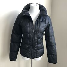 Guess Real Down Fill Puffer Winter Coat Parka Puffy Jacket XS Black 0 2