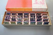 Rare boite 28 ancien tampon scolaire timbre DANIEL et VALERIE V93 Nathan rose