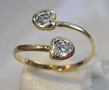 GENUINE 9ct Gold gf Toe Ring White Topaz,Truly Stunning, ALMOST SOLD OUT 1100