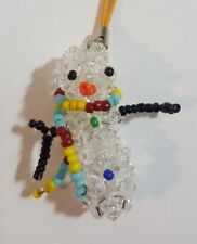 Snowman Crystal Cell Phone Charm
