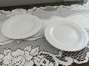 Schonwald Germany 6206 White Saucers Small Plates-Set of 2