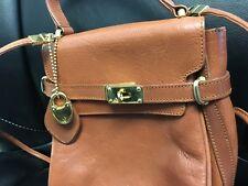 Rare Vintage i santi made in Italy brown leather crossbody bag mini birkin