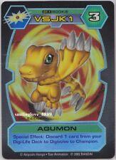 BANDAI DIGIMON D-TECTOR SERIES HOLO FOIL RARE CARD - DT-1 AGUMON 1st Edition NM