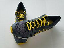 Asics Mens 11.5 Gray Yellow Running Shoes Gel Cushioning System NWT no box