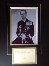 HRH PRINCE PHILIP - DUKE OF EDINBURGH - BRILLIANT SIGNED B/W PHOTO DISPLAY