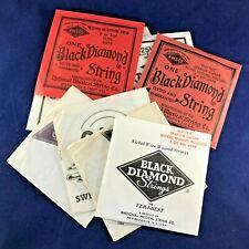 1980's VINTAGE Black Diamond Guitar Strings Various Collectable Set of Nine!