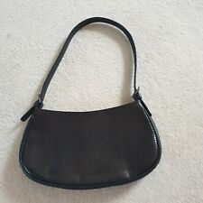Via Spiga Italian Brand Leather Black Reptile Print Small Shoulder Bag