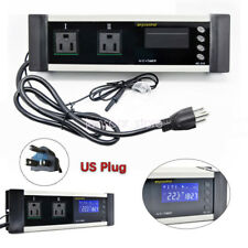 Led Reptile Timer Aquarium Digital Temp Controller Heat Thermostat Us Plug