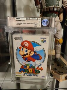 Super Mario 64 Nintendo N64 Video Game Wata Graded Sealed 7.0 N64 Debut !