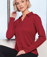 GUERNSEY PLUS l TRUEDRY LONG SLEEVE POLO l LADIES