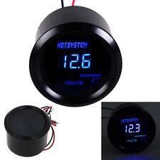 """Car HOTSYSTEM Black 2"""" 52mm Blue Digital LED Electronic Voltage Volt Meter Gauge"""