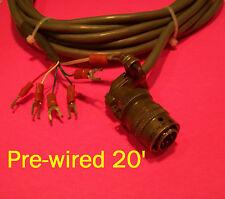 Circular Connector, 6-pin plug, right-angle strain-relief, pre-wired 20'