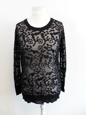 See By Chloe Black Mesh Oversized Jumper Size 40 (UK 8) Box44 15 T