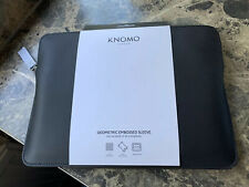 """Knomo 12"""" Embossed Laptop Sleeve Black Case Ultrabooks/12"""" MacBook RRP £79 NEW"""
