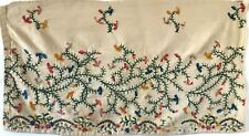 Beautiful Rare 18th C. French Cotton Hand Embroidery Fabric (2938)