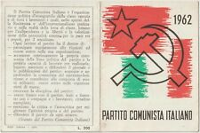 ITALY 1962 IDENTITY CARD, ITALIAN COMMUNIST PARTY. GROSSETO