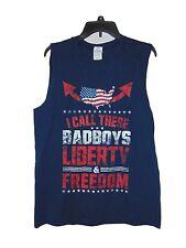 AMERICA GUN SHOW FREEDOM AND LIBERTY MUSCLE T-SHIRT SIZE MEDIUM NWOT