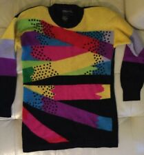 New listing Vintage Spree International Sweater Beaded Embellished 80s 90s Lambswool Size S