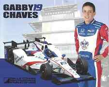 """2016 INDY 500 GABBY CHAVES COLUMBIA DALE COYNE INDYCAR 8"""" X10"""" HERO CARD !"""