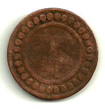 TUNISIA. 5 CENTIMES DE 1908. KM-203. BRONCE BRONZE