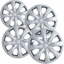 "4 PC Hubcaps Fits 09-16 Toyota Corolla 15"" Silver Replacement Wheel Rim Cover"