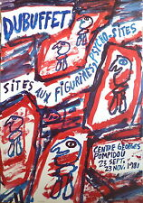 Jean Dubuffet Affiche Quadri exposition Pompidou 81 Art Abstrait Abstraction