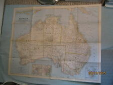 VINTAGE AUSTRALIA  MAP National Geographic March 1948 MINT