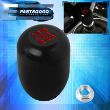 Type-R Style Manual / Mt 5 Speed Gear Black Aluminum Red Letters Shift Knob