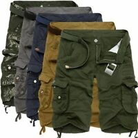 Mens Casual Short Pants Military Combat Shorts Camouflage Cargo Pocket Trousers